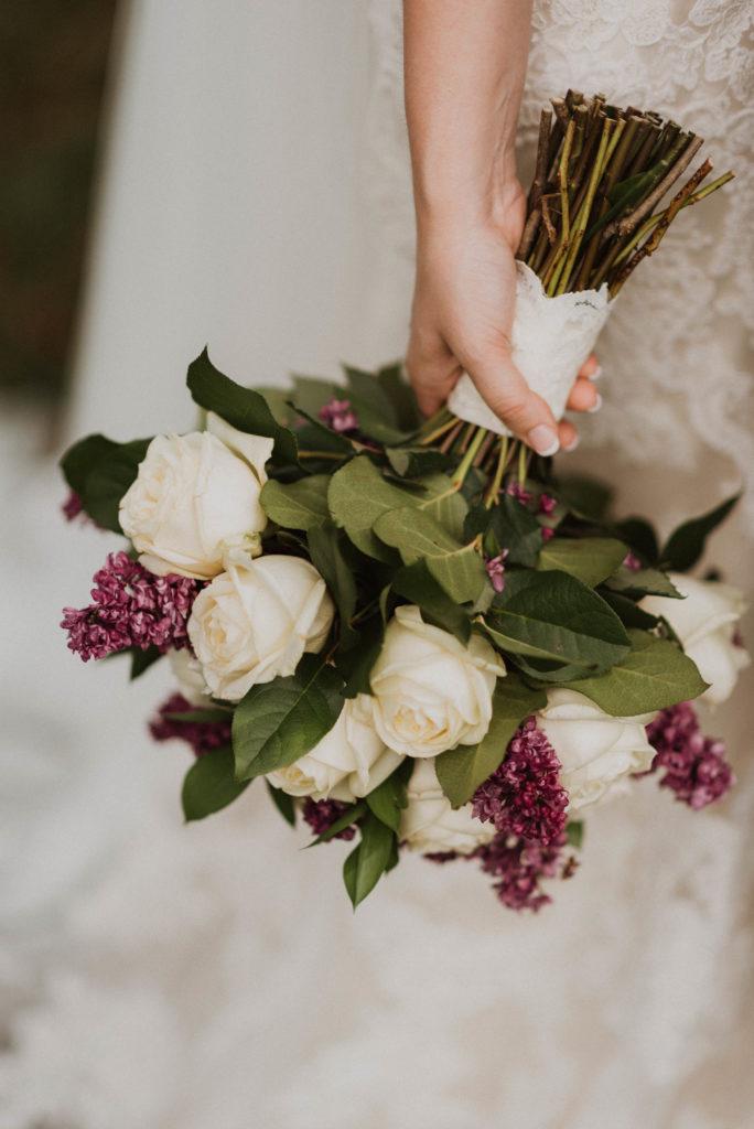 virginia wedding holland lavender bouquet